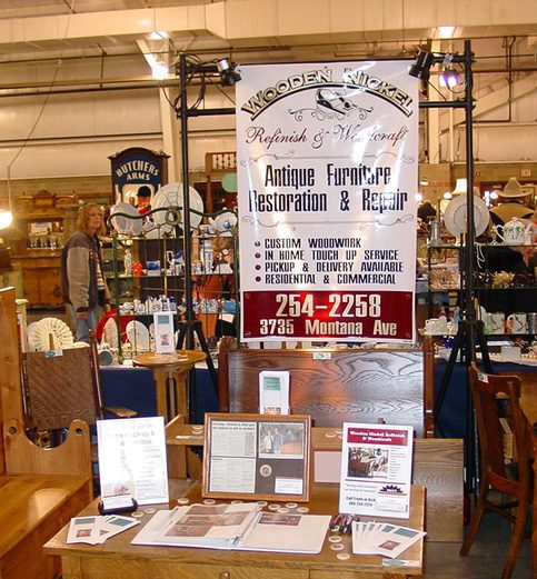Booth at Huff Antique Show