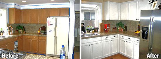 Kitchen Cabinet & Countertop Refinishing 2